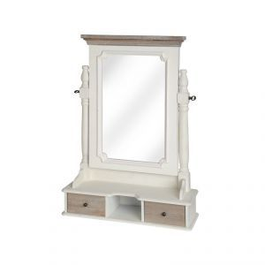 Marquee Dressing Table Mirror with Two Drawers