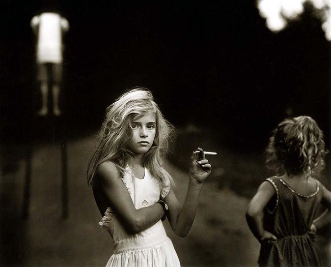 Sally Mann. Brings me back to Black and White Photography from college. Love her work. Candy Cigarette