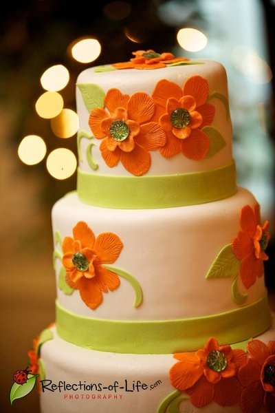 pictures of orange and green wedding cakes 184 best orange and green wedding ideas images on 18416