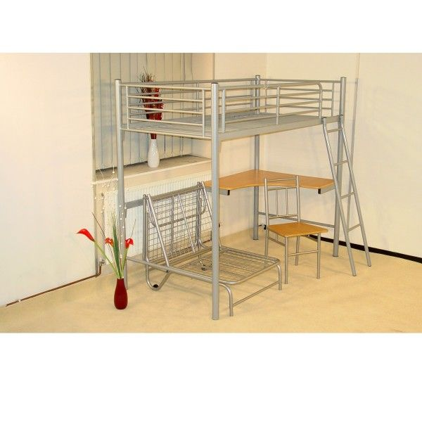 metal framed bunk beds or lofts | Home > Beds > Bunk Beds > Heartlands Study Bunk Metal Bunk Bed Frame ...