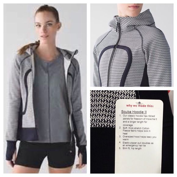 Lululemon Scuba Hoodie II NWT Washi Weave Angel Wing Naval Blue. New with tags. Hard to find! No trades. No PayPal. lululemon athletica Tops Sweatshirts & Hoodies