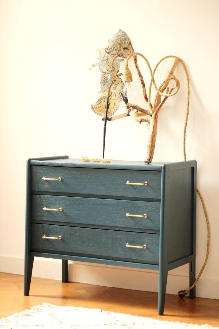 commode vintage années 50 60 Bleu nuit chambre enfant TRENDY LITTLE 1