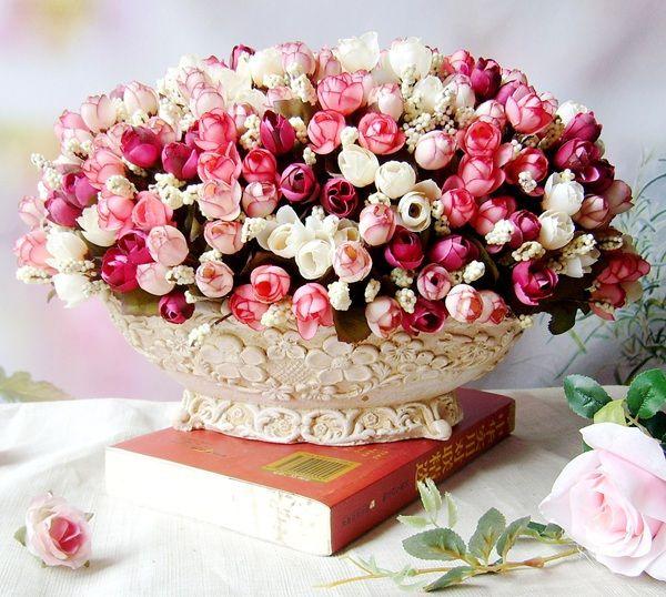 Outono de 15 cabeças/bouquet pequeno broto rosas bráctea simulação flores de seda rosa Flores decorativas Início decorações para Casamento em Flores decorativas & Grinaldas de Home & Garden no AliExpress.com | Alibaba Group