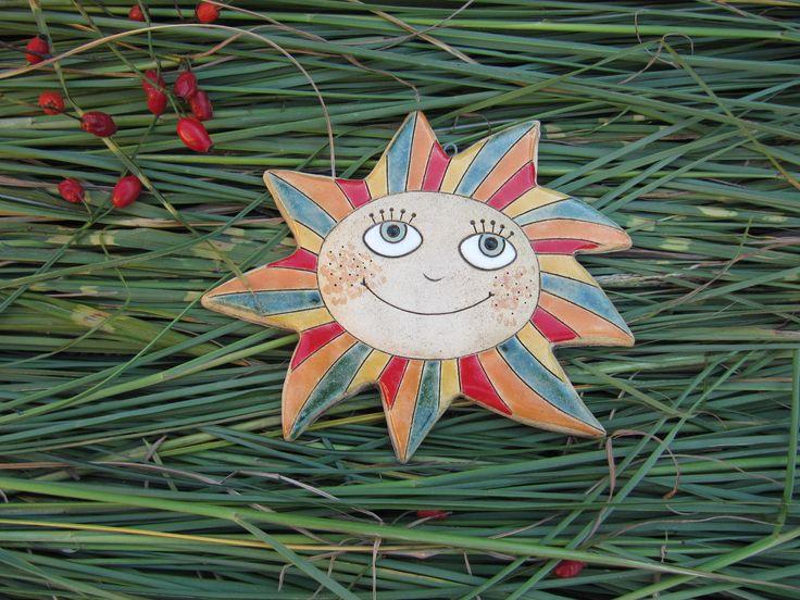 Sluníčko+3+Keramické+sluníčko+23x25cm