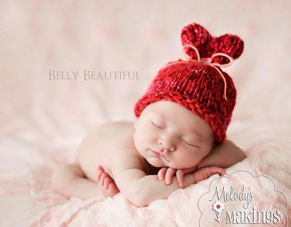 Valentine's Day Hat Knitting Pattern  Baby Valentines Day