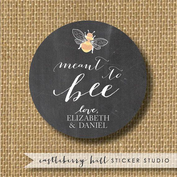 Honey labels for wedding favors custom honey by CastleberryHill