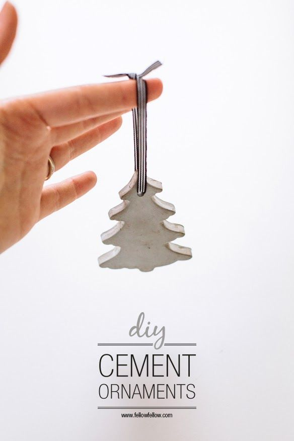 Cement Christmas Tree Ornaments