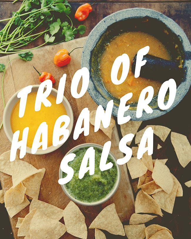 TRIO OF HABANERO SALSA - The Kitchy Kitchen