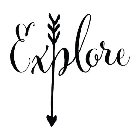 Explore Arrow wall decal