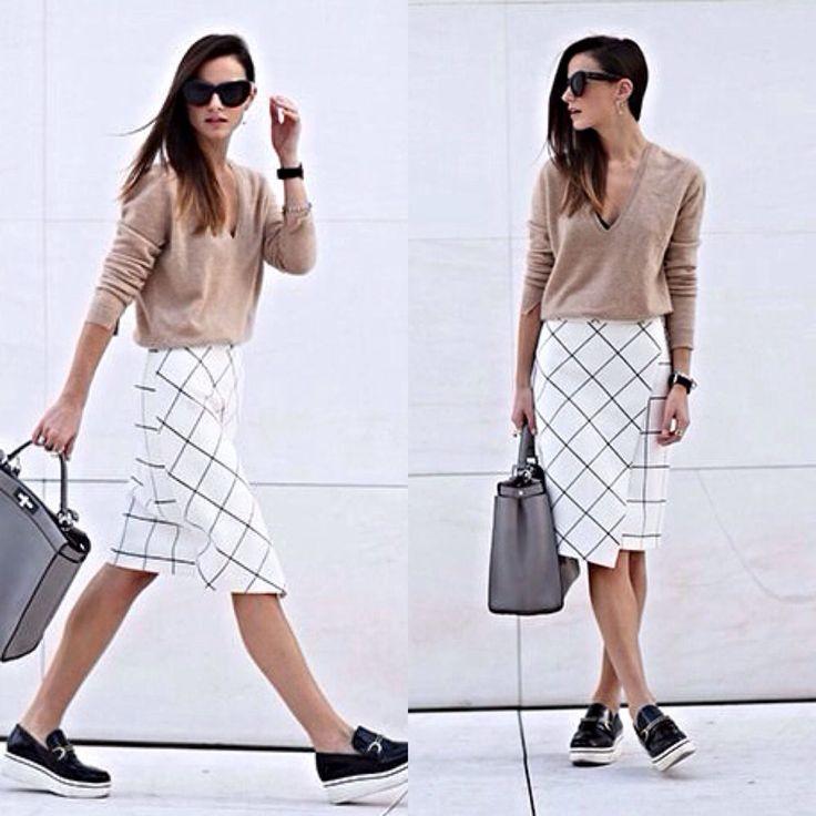 Zara Check Print Asymmetrical Monochrome Ecru Sarong Wrap Midi Skirt Size M #ZARA #WrapSarongMidi