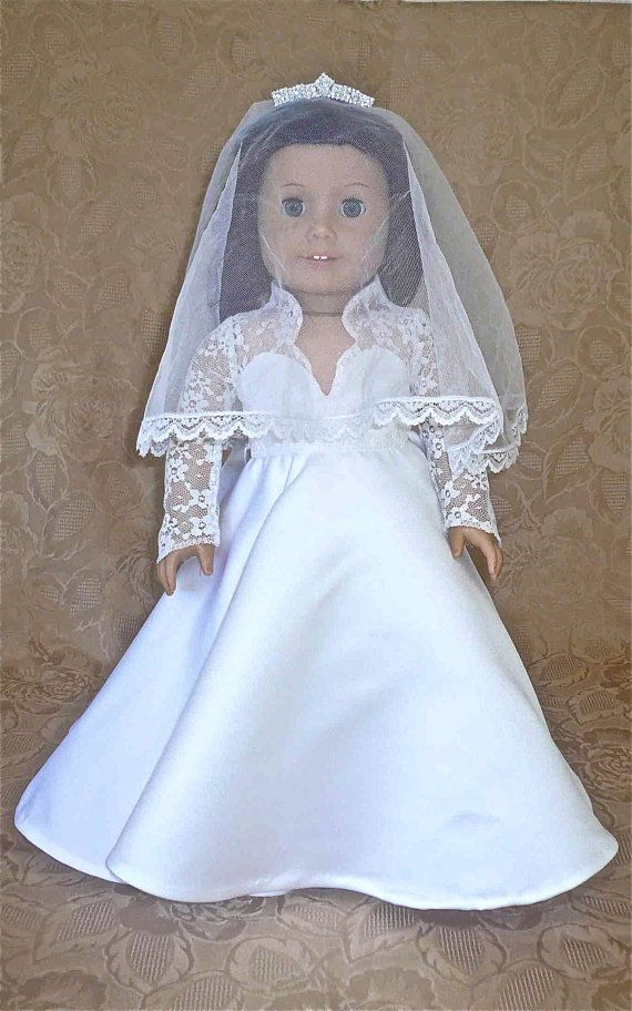76 best american girl doll wedding long sleeves images on for American girl wedding dress