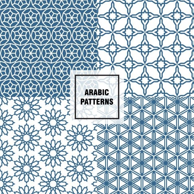 Cheerful arabic patterns Free Vector