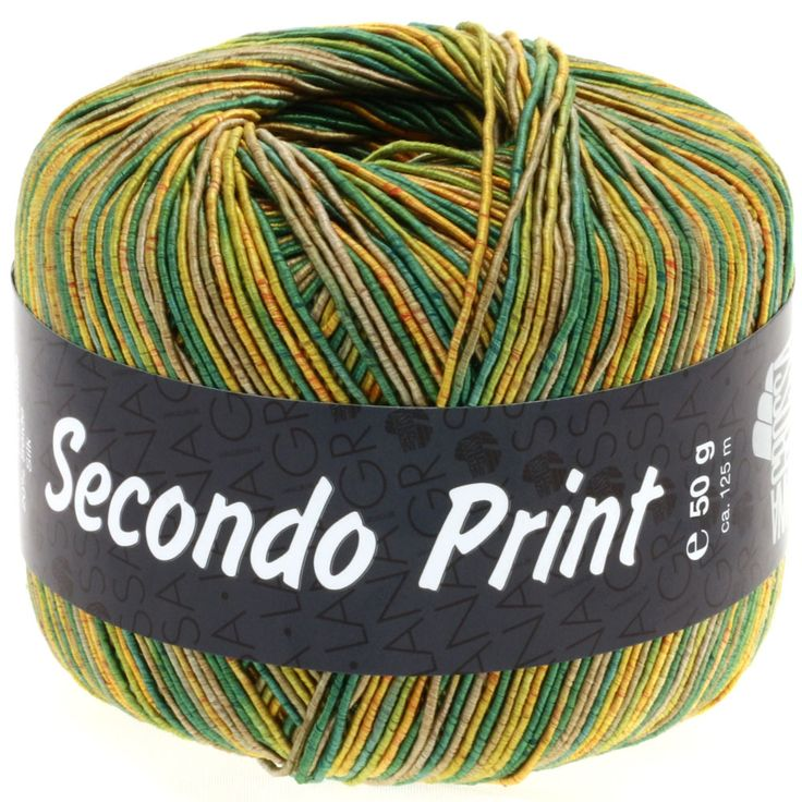 SECONDO print II 508-gold yellow/green/reed/olive