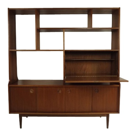Mid-Century Modern Wall Unit   Book Shelf - $1950.