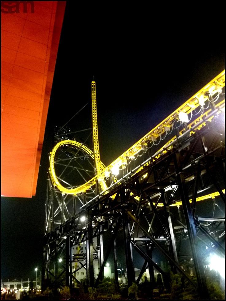 Roller coaster at Trans Studio Mall, Bandung, Indonesia