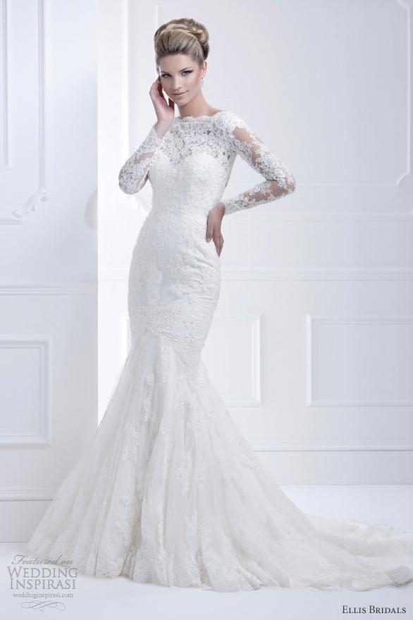 ellis bridals 2013 long sleeve wedding dress