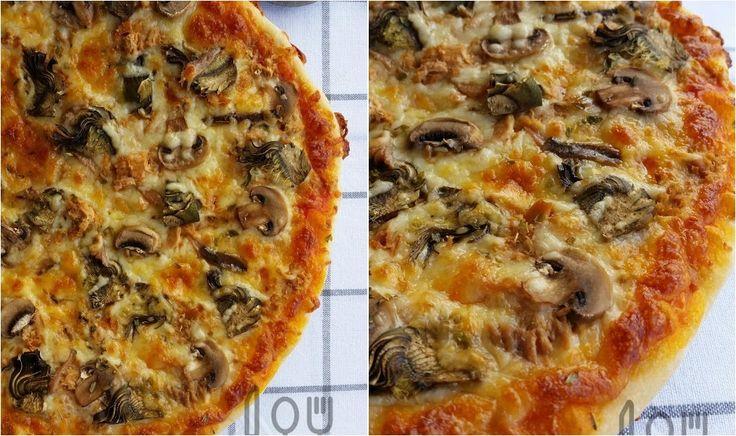 Pizza sin amasado de Iban Yarza