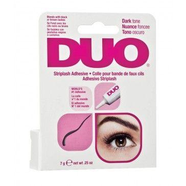 DUO Wimpernkleber Dunkel 7g  DUO® Striplash Adhesive: Weltweit der meistverkaufte Wimpernkleber, der absolute Lieblingskleber von Profi-Visagisten!     Dieser DUO Wimpernkleber ist schon seit Jahrzehnten der absolute Favorit von Visagisten und Make-Up Artists! Der Latex-Wimpernkleber hält die Wimpern den ganzen Tag da, wo Sie hingehören!
