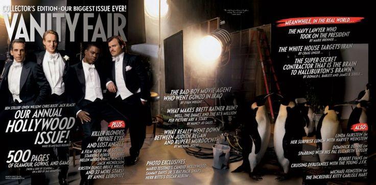 Vanity Fair Hollywood Issue 2007 From left: Ben Stiller, Owen Wilson, Chris Rock, and Jack Black.