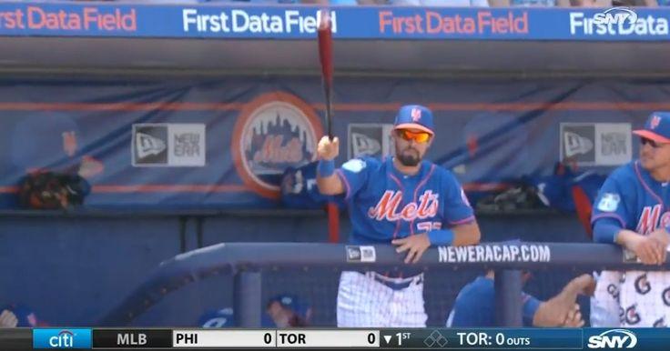 Cette scène incroyable s'est déroulée lors d'un match entre les Mets de New York et les Miami Marlins.
