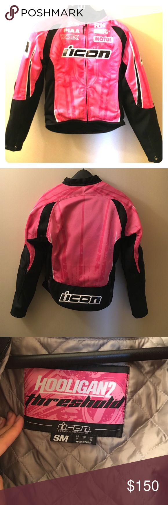 Icon Hooligan 2 motorcycle jacket Textile icon jacket worn only 3-4 times! Great condition! ICON Jackets & Coats