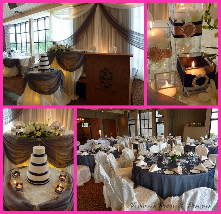 navy burlap wedding