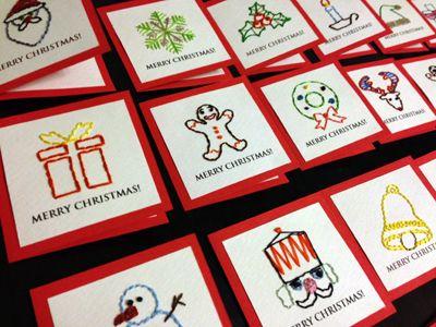 全20種38枚の紙刺繍クリスマスカード、完成! | Hiromi's Pop-Up Gate