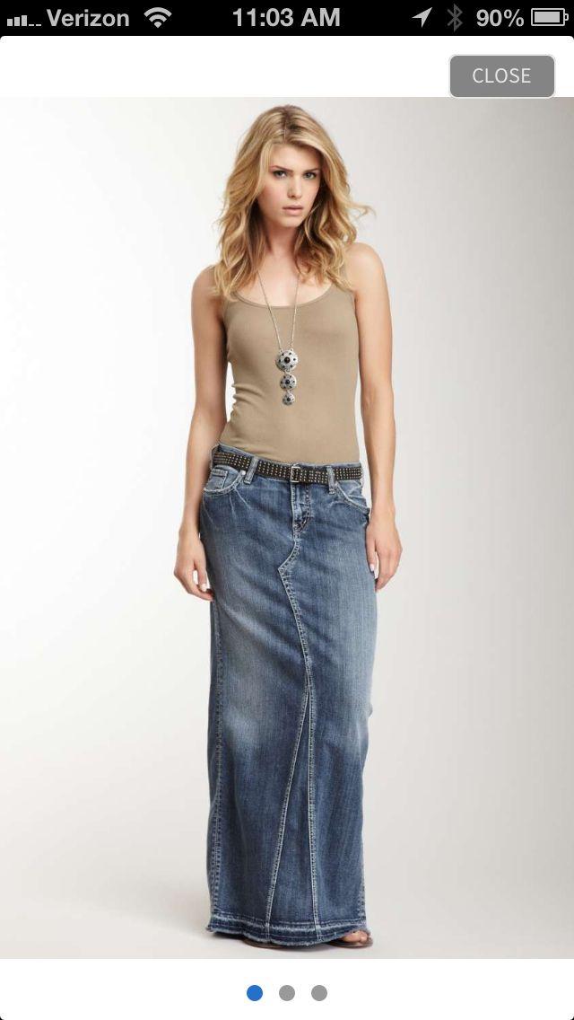 Best 20  Maxi denim skirts ideas on Pinterest   Maxi skirt fall ...