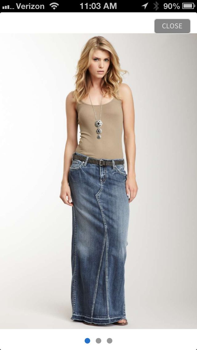 17 Best images about Denim Long Skirt Outfit on Pinterest ...