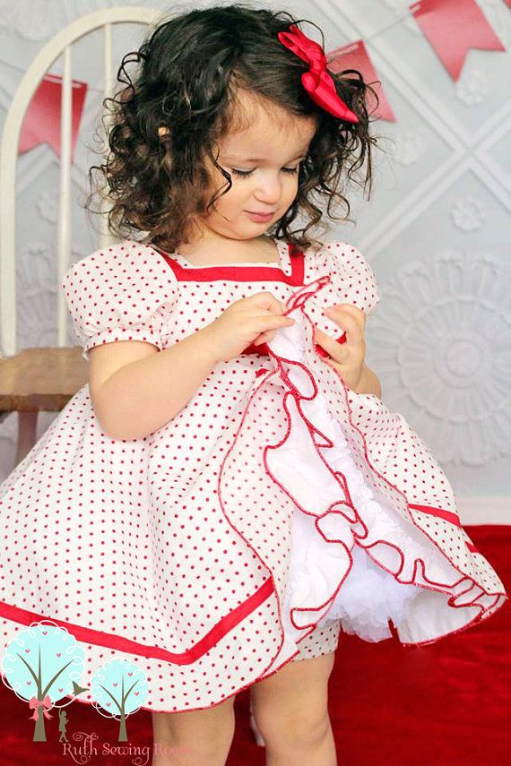 Shirleytemple inspired dress shirley dress by ruthsewingroomdesign