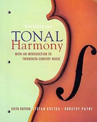 Required Text for AP Music Theory; Tonal Harmony ISBN:9780077269968