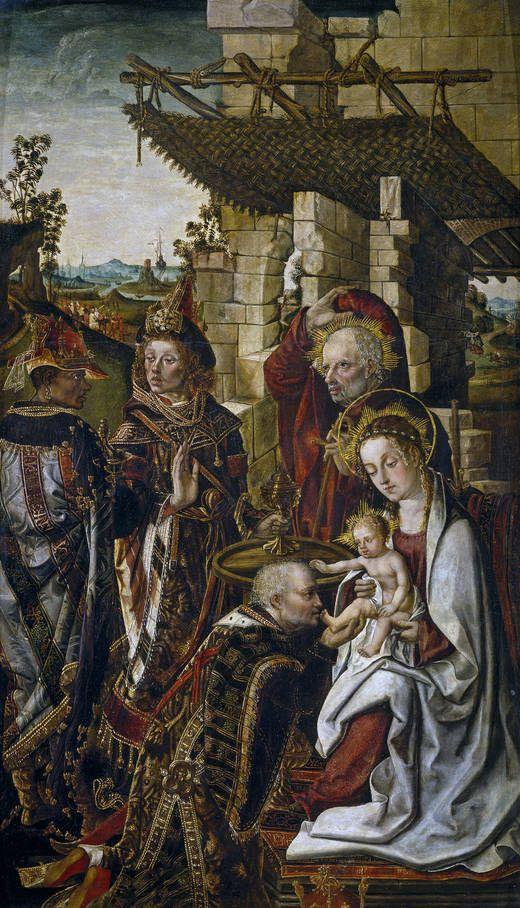 """""""La Adoración de los Reyes Magos"""", Francisco y Rodrigo de Osona, hacia 1500"""