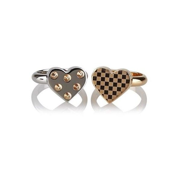 Pre-Owned Louis Vuitton Spiky Valentine Ring ($319) ❤ liked on Polyvore featuring jewelry, rings, preowned rings, pre owned jewelry, heart-shaped jewelry, pre owned rings and louis vuitton