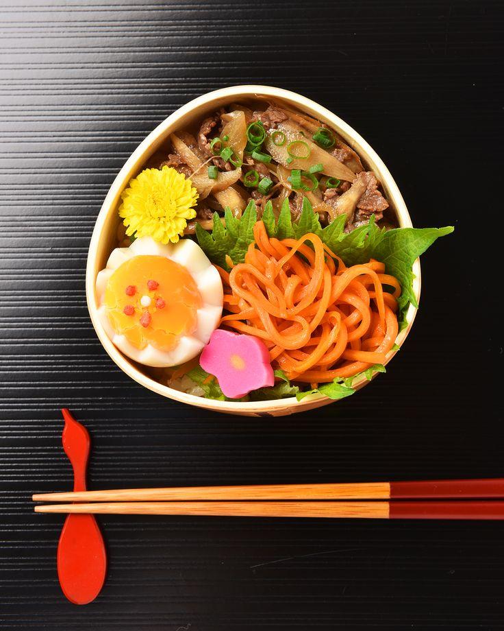 牛肉とごぼうの柳川風弁当 / Yanagawa-Style Beef & Burdock Root Bento #edit_jp
