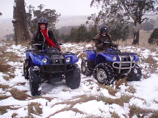 High Country Trail Rides... Quad bikes in the snow