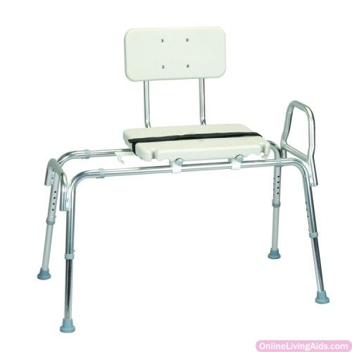 Roscoe - 30008 - Sliding Transfer Bench w/ Seat and Back