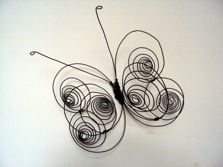Mariposa alambre rulos