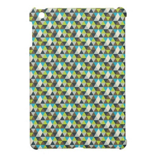Triangles pattern case for the iPad mini