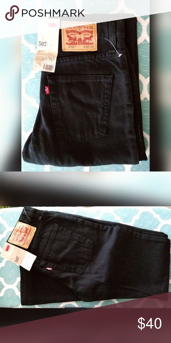 Levi's 507 Black Jeans Men Regular for. Bootcut. Regular waist/rise. Waist 29, Length 32 Levi's Jeans Bootcut