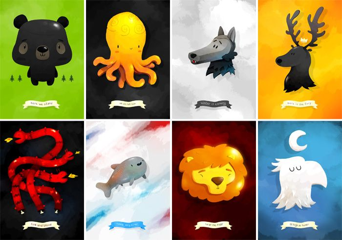 Chibi Game of Thrones by Reynaud Forestie