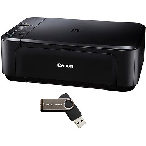 Canon PIXMA MG2120 Inkjet Photo All-In-One Printer/Copier/Scanner w/ Bonus 4GB USB Flash Drive Value Bundle