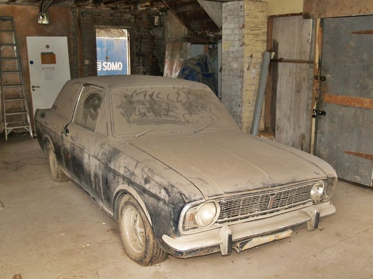 An Abandoned Looking Vehicle Found In A Garage