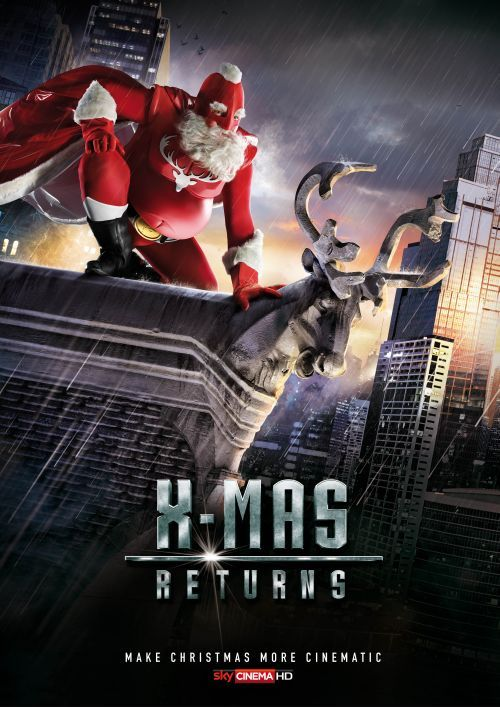 sky propaganda natal papai noel filmes de ação poster batman returns