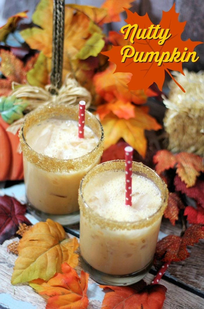 Nutty Pumpkin Cocktail   This brings together two iconic fall flavors (pumpkin and nuts) in one delicious drink.  The easy cocktail recipe is below so you can enjoy one yourself!  @momfoodie