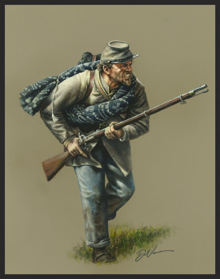 Confederate Infantry 1862.