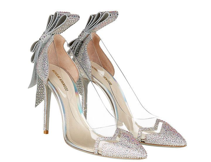 """Cinderella Bow Mirage Pump"" with Swarovski crystals ~ we ❤ this! moncheribridals.com"