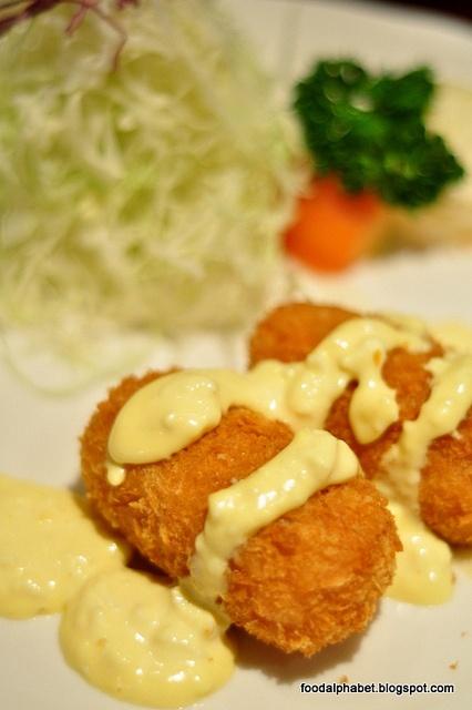 Kani cream croquette,deep-fried crab meat and potato  @Ma Maison
