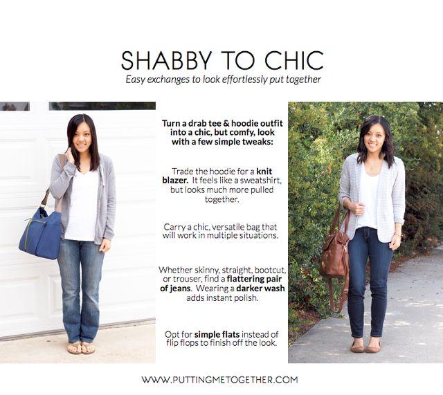 Shabby to Chic: Drab Hoodie to Knit Blazer