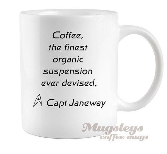 Star Trek Coffee Mug Captain Janeway quote Voyager by Mugsleys, $10.00