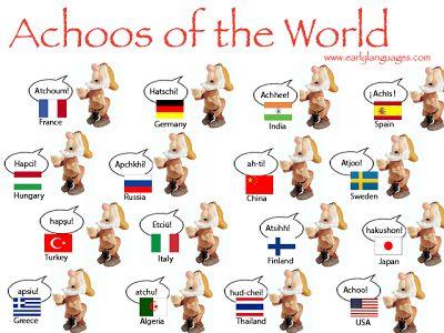 How do you sneeze in your language? Comment éternuez-vous dans votre langue natale?